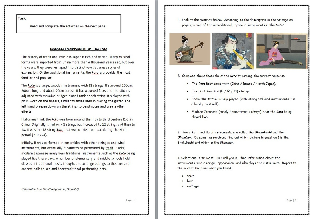 Supply teacher material Japanese Teaching Ideas